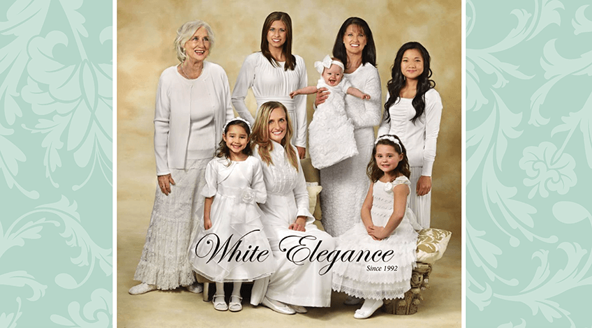 White Elegegance LDS Temple Clothing