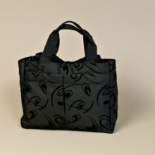 Black Scripture Tote and Make-up Bag