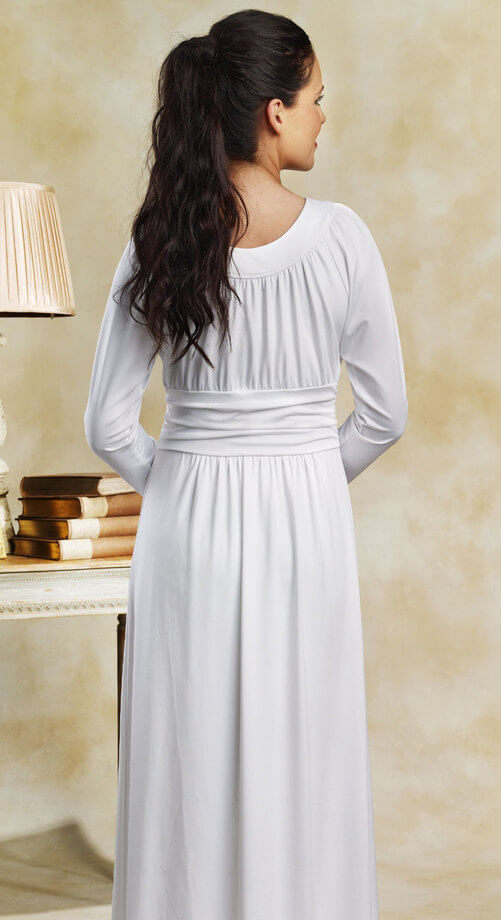 Temple dress white lds