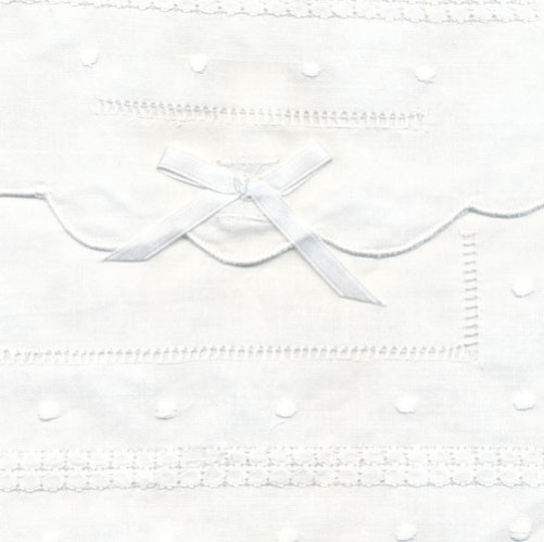 Cotton Embroidered Envelope close up