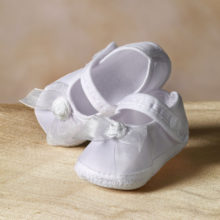 Cotton Shoe with Organza Bow