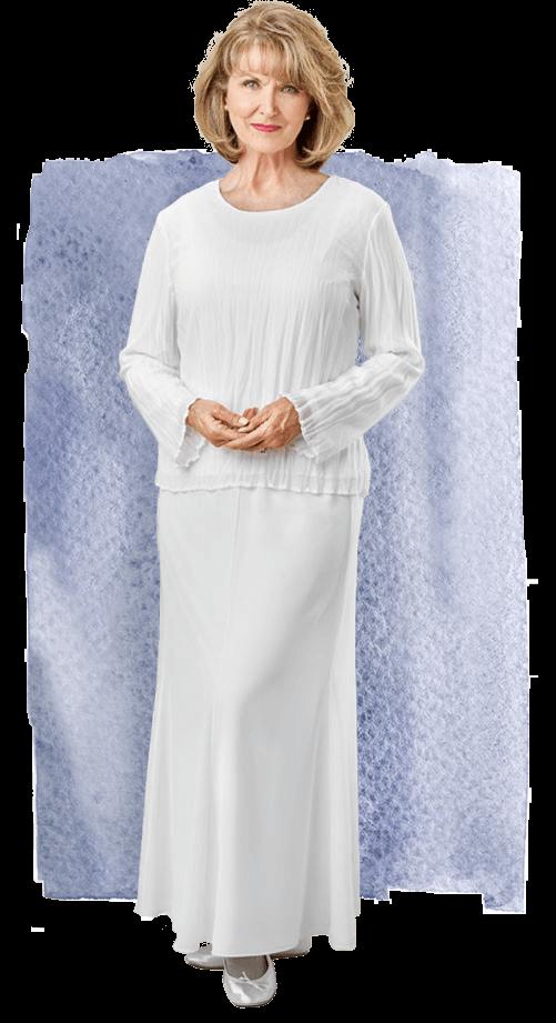 Georgette Skirt 1077 White Elegance