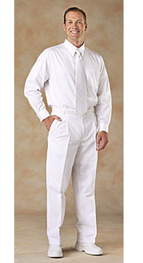 Men's Pleated Pants - $15.99 | White Elegance