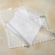 Personalized Crocheted Temple Hankie