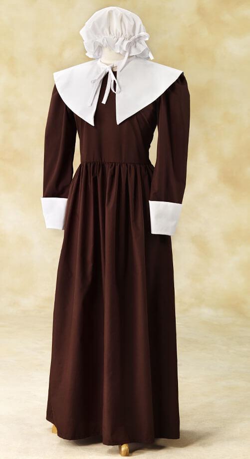 Women's Colonial Mop Cap Set #P1620WC | White Elegance