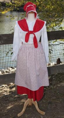 Pioneer-skirt-bonnet-costum