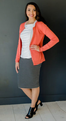 Ruched top with sweater