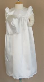 Satin Gown with Trim