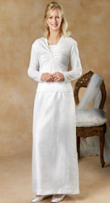 Straight Shantung Skirt front