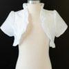 Ruffled White Jacket LDS Baptism