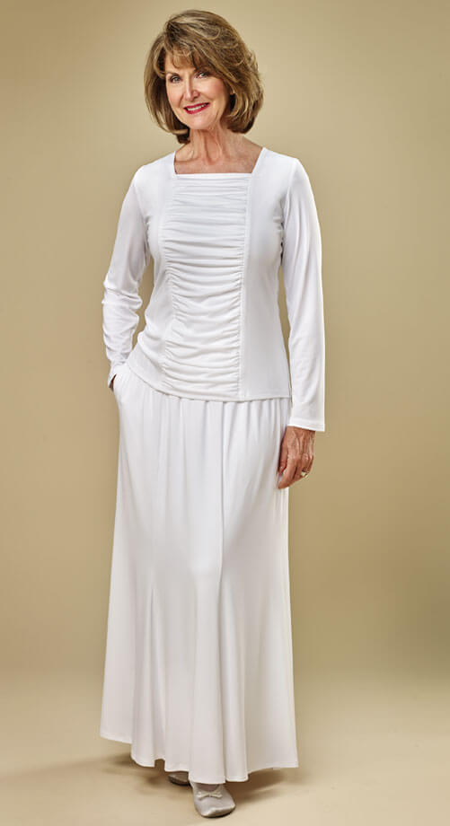 Knit Gore Skirt 59 99 White Elegance
