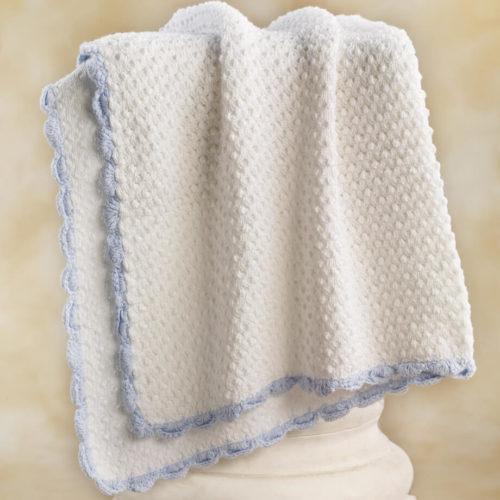 blue trim blanket