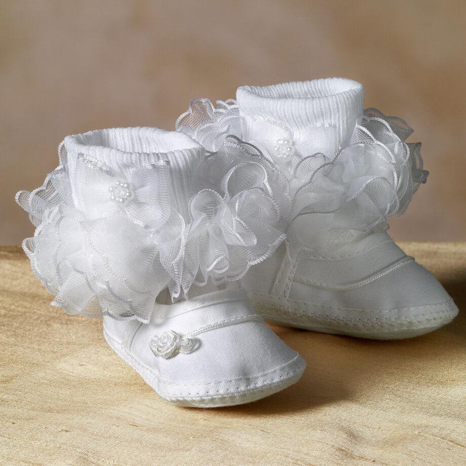 Infant Ruffled Socks - $5.99 | White Elegance Ruffled Socks