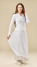 pleated-skirt-cowl-top