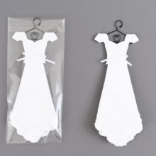 White Temple Handkerchief Mini Dress