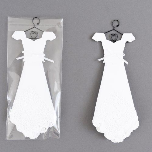 White Temple Handkerchief Mini Dress