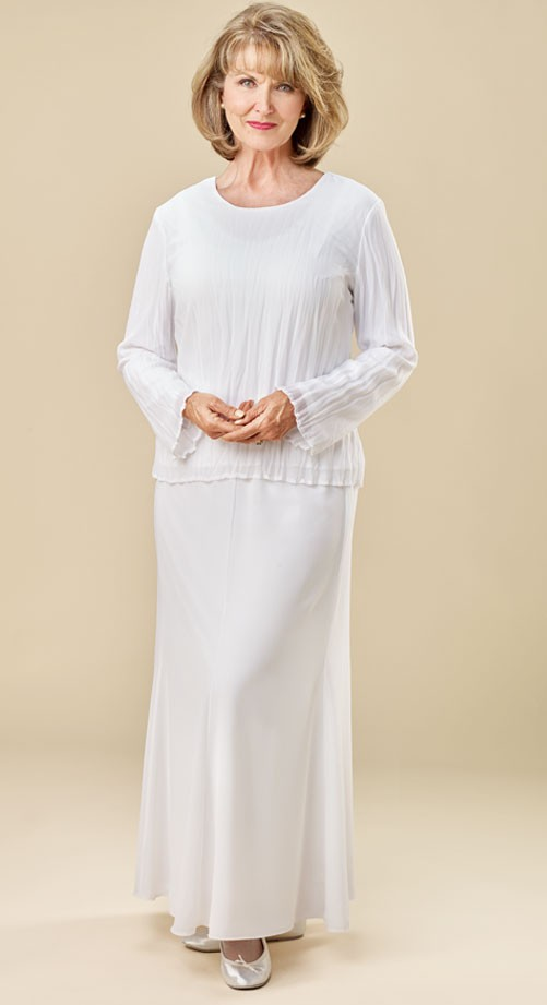 white-skirt-pleated-top