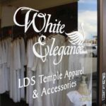 White Elegance Orem LDS Temple Dress