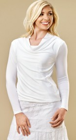 Cowl-neck-white-top