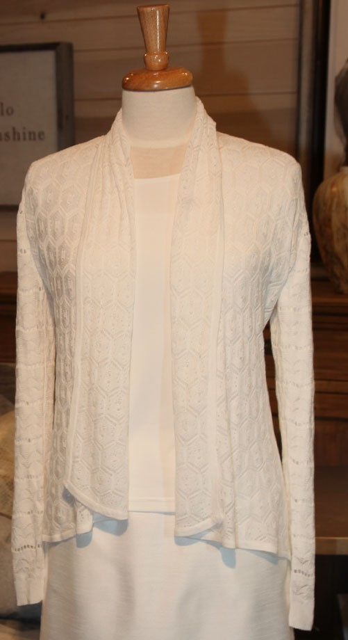White Lacey Sweater 106