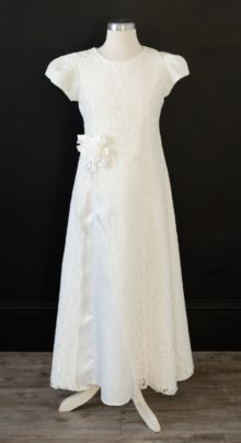 Long White LDS Baptism Dress