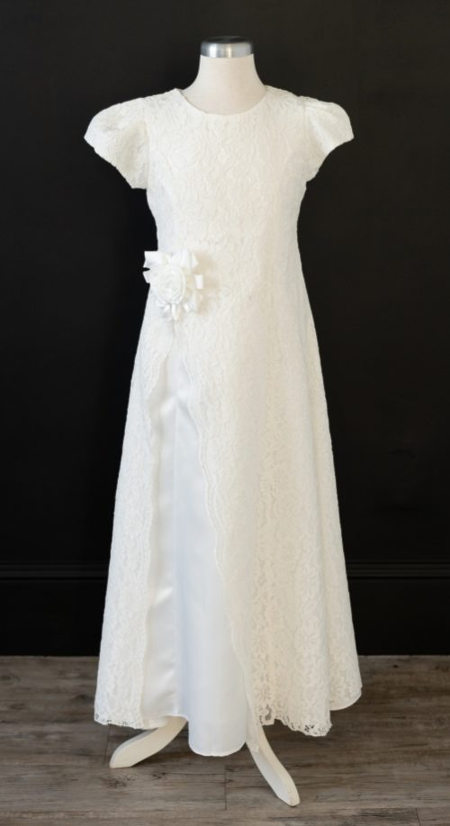 Long White LDS Baptism Dress