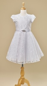 Pleated-white-Lace-dress