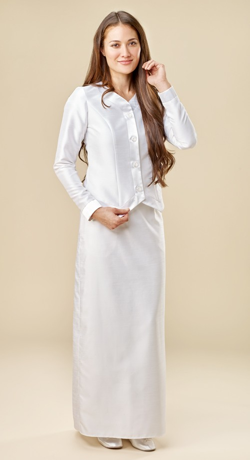 Temple Dresses and Sets  White Elegance