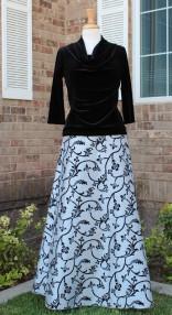 silver-blk-skirt