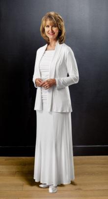 3 Piece Knit Set #8325 by White Elegance - Temple Dress Set
