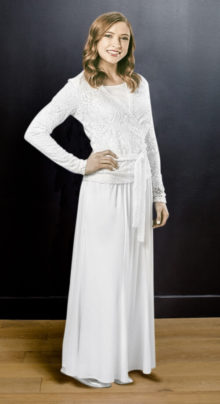 Bristol Top and Skirt #8501 by White Elegance - Temple Dress