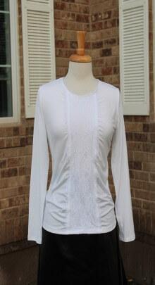 White lace panel blk skrt