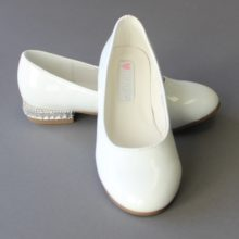 White Baptism Ballet Style Shoes