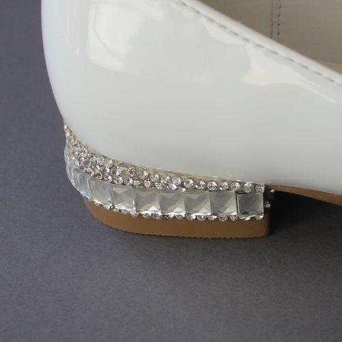 Bling Baptism Shoes Jewel Details