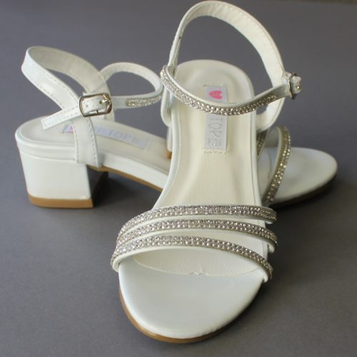 Girls LDS Baptism Sandals Rhinestones