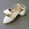 Pointed White Baptism Shoes Straps