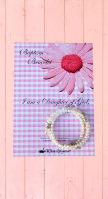 Butterfly baptism bracelet