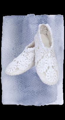 crocheted slipper