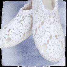 crocheted slipper cls