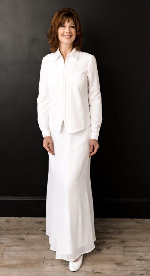 LDS White Temple Skirt