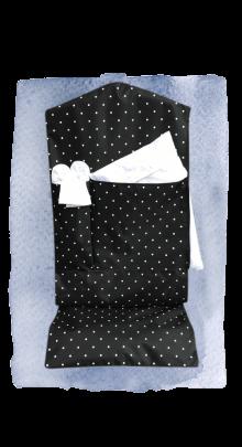 garment bag blk dot
