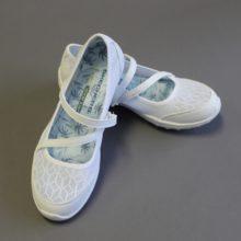 White Temple Sketcher Shoe LDS