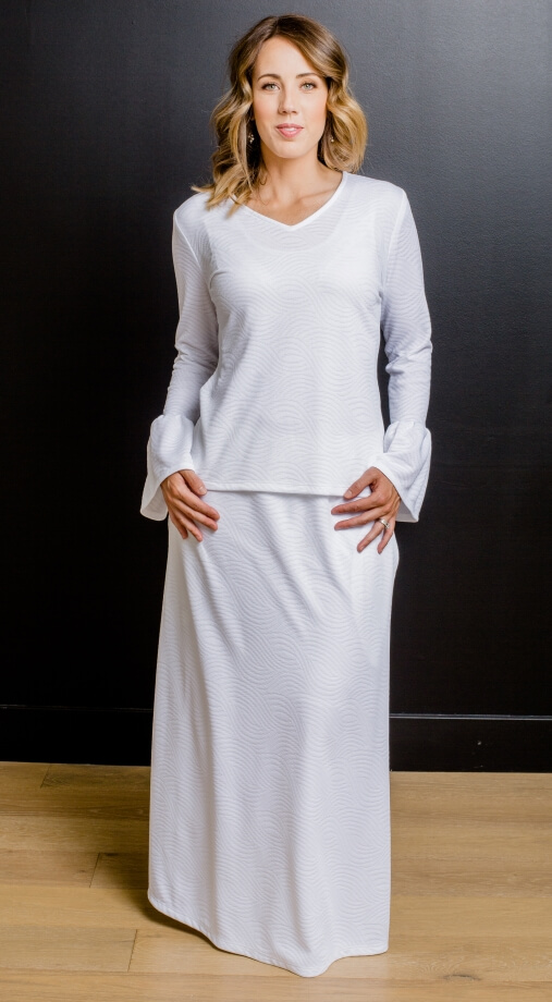 Siena 1144 New Lds Temple Dress White Elegance