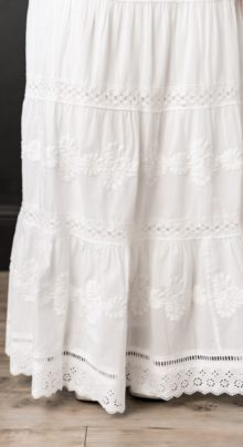 Belize Temple Skirt White Set