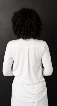 White LDS Temple Knit Top
