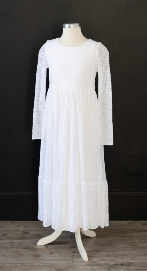 Enchanted Lace Baptism Dress LDS