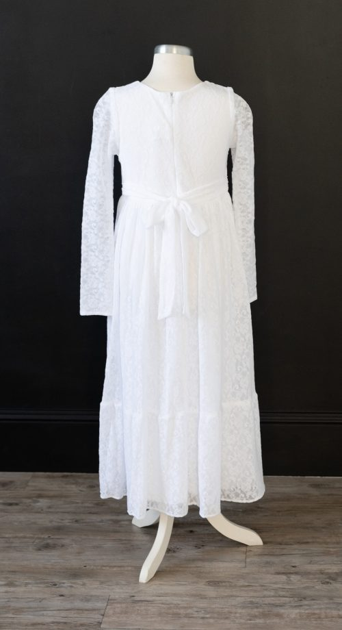 Baptism Dress LDS Lace Sleves