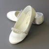 LDS Girls Baptism Shoe Gardenia