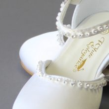 White Magnolia Shoe LDS Baptism