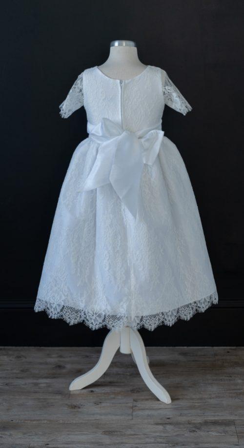 White LDS Baptism Dress Lace